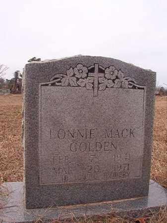 GOLDEN, LONNIE MACK - Calhoun County, Arkansas | LONNIE MACK GOLDEN - Arkansas Gravestone Photos