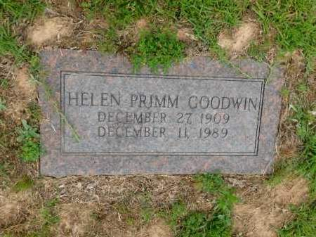PRIMM GOODWIN, HELEN - Calhoun County, Arkansas | HELEN PRIMM GOODWIN - Arkansas Gravestone Photos