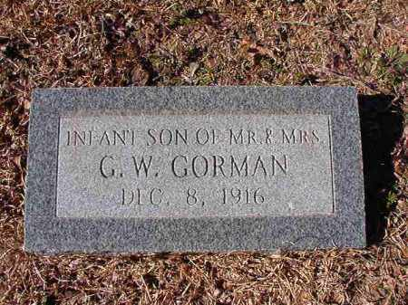 GORMAN, INFANT SON - Calhoun County, Arkansas | INFANT SON GORMAN - Arkansas Gravestone Photos