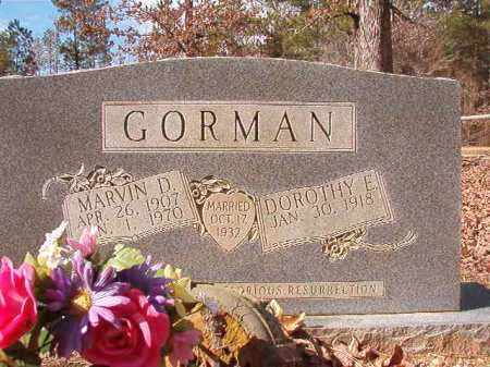 GORMAN, MARVIN D - Calhoun County, Arkansas | MARVIN D GORMAN - Arkansas Gravestone Photos