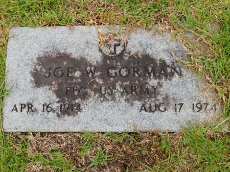 GORMAN (VETERAN), JOE W - Calhoun County, Arkansas | JOE W GORMAN (VETERAN) - Arkansas Gravestone Photos