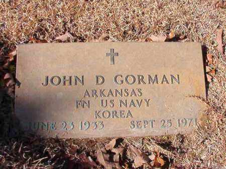 GORMAN (VETERAN KOR), JOHN D - Calhoun County, Arkansas | JOHN D GORMAN (VETERAN KOR) - Arkansas Gravestone Photos