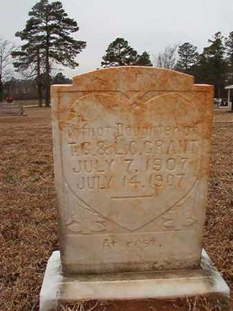 GRANT, INFANT DAUGHTER - Calhoun County, Arkansas | INFANT DAUGHTER GRANT - Arkansas Gravestone Photos