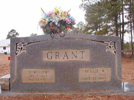 GRANT, MOLLIE W - Calhoun County, Arkansas | MOLLIE W GRANT - Arkansas Gravestone Photos