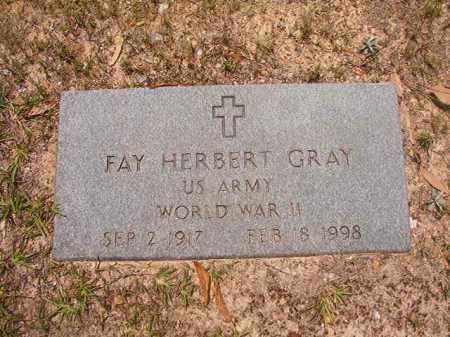 GRAY (VETERAN WWII), FAY HERBERT - Calhoun County, Arkansas | FAY HERBERT GRAY (VETERAN WWII) - Arkansas Gravestone Photos