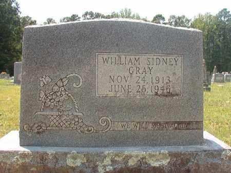 GRAY, WILLIAM SIDNEY - Calhoun County, Arkansas   WILLIAM SIDNEY GRAY - Arkansas Gravestone Photos