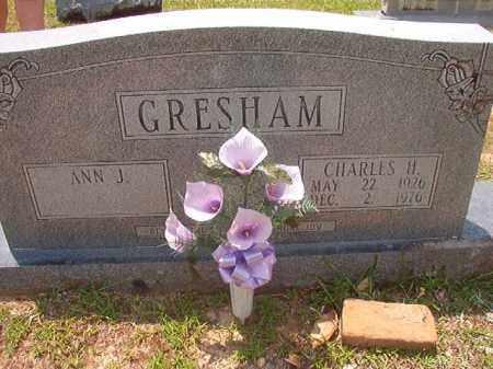 GRESHAM, CHARLES H - Calhoun County, Arkansas | CHARLES H GRESHAM - Arkansas Gravestone Photos