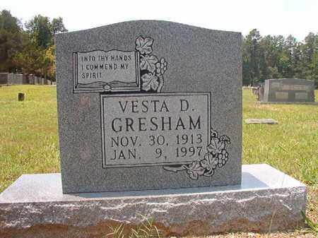GRESHAM, VESTA D - Calhoun County, Arkansas | VESTA D GRESHAM - Arkansas Gravestone Photos