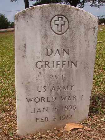 GRIFFIN (VETERAN WWI), DAN - Calhoun County, Arkansas   DAN GRIFFIN (VETERAN WWI) - Arkansas Gravestone Photos