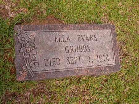 EVANS GRUBBS, ELLA - Calhoun County, Arkansas | ELLA EVANS GRUBBS - Arkansas Gravestone Photos