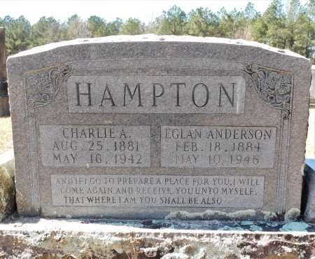 ANDERSON HAMPTON, EGLAN - Calhoun County, Arkansas | EGLAN ANDERSON HAMPTON - Arkansas Gravestone Photos