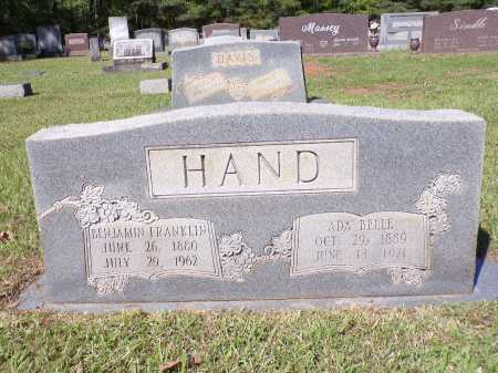 HAND, BENJAMIN FRANKLIN - Calhoun County, Arkansas | BENJAMIN FRANKLIN HAND - Arkansas Gravestone Photos