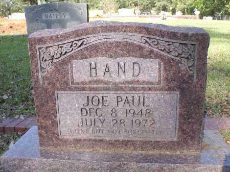 HAND, JOE PAUL - Calhoun County, Arkansas | JOE PAUL HAND - Arkansas Gravestone Photos