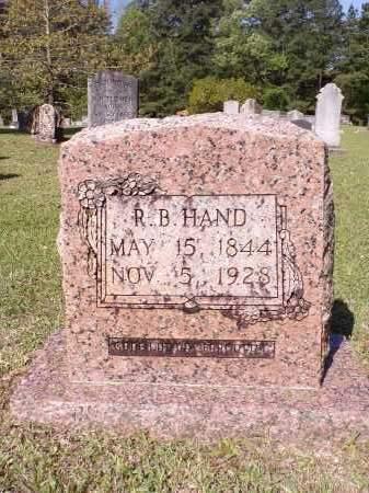 HAND, R B - Calhoun County, Arkansas | R B HAND - Arkansas Gravestone Photos