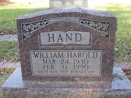 HAND, WILLIAM HAROLD - Calhoun County, Arkansas | WILLIAM HAROLD HAND - Arkansas Gravestone Photos