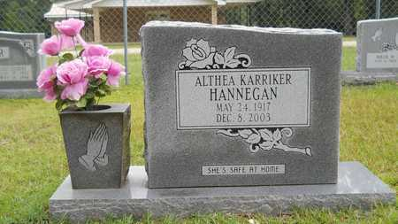 KARRIKER HANNEGAN, ALTHEA - Calhoun County, Arkansas | ALTHEA KARRIKER HANNEGAN - Arkansas Gravestone Photos
