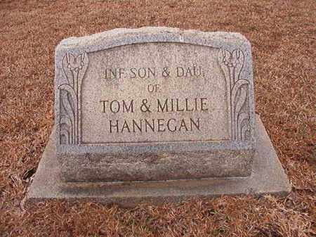HANNEGAN, INFANT SON - Calhoun County, Arkansas | INFANT SON HANNEGAN - Arkansas Gravestone Photos