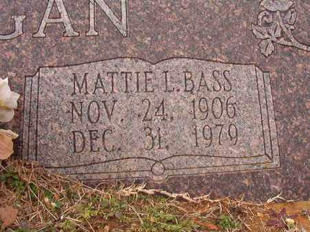 BASS HANNEGAN, MATTIE L - Calhoun County, Arkansas | MATTIE L BASS HANNEGAN - Arkansas Gravestone Photos