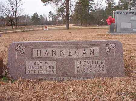 HANNEGAN, ELIZABETH K - Calhoun County, Arkansas | ELIZABETH K HANNEGAN - Arkansas Gravestone Photos
