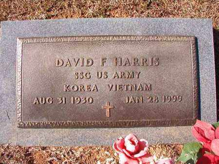 HARRIS (VETERAN 2 WARS), DAVID F - Calhoun County, Arkansas | DAVID F HARRIS (VETERAN 2 WARS) - Arkansas Gravestone Photos