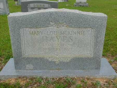 MCKINNIE HAYES, MARY LOU - Calhoun County, Arkansas | MARY LOU MCKINNIE HAYES - Arkansas Gravestone Photos