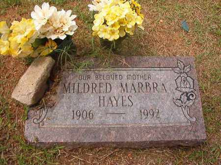 HAYES, MILDRED MARBRA - Calhoun County, Arkansas | MILDRED MARBRA HAYES - Arkansas Gravestone Photos