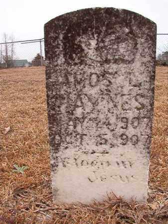HAYNES, AMOS L - Calhoun County, Arkansas   AMOS L HAYNES - Arkansas Gravestone Photos