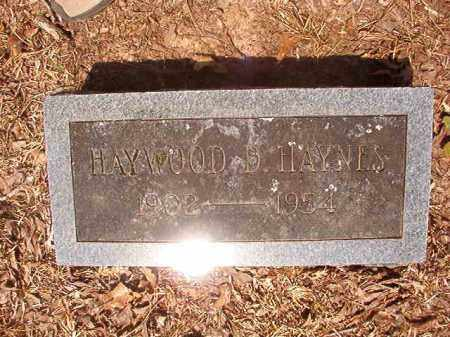 HAYNES, HAYWOOD D - Calhoun County, Arkansas | HAYWOOD D HAYNES - Arkansas Gravestone Photos
