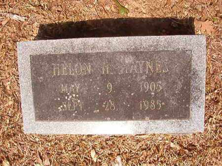 HAYNES, HELON H - Calhoun County, Arkansas | HELON H HAYNES - Arkansas Gravestone Photos