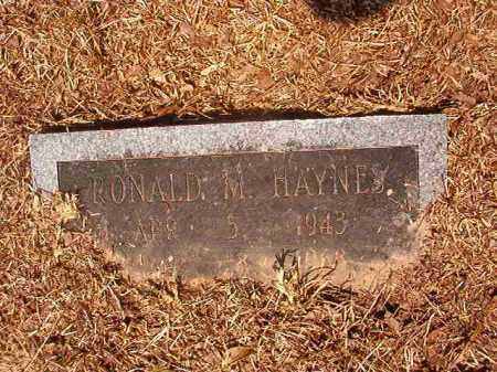HAYNES, RONALD M - Calhoun County, Arkansas | RONALD M HAYNES - Arkansas Gravestone Photos