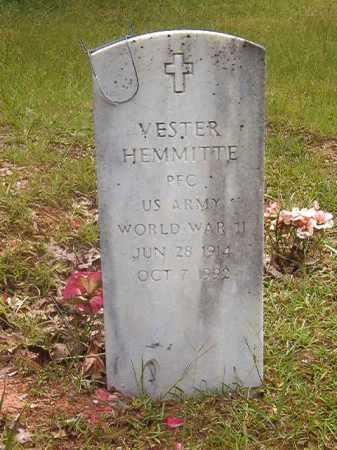 HEMMITTE (VETERAN WWII), VESTER - Calhoun County, Arkansas | VESTER HEMMITTE (VETERAN WWII) - Arkansas Gravestone Photos