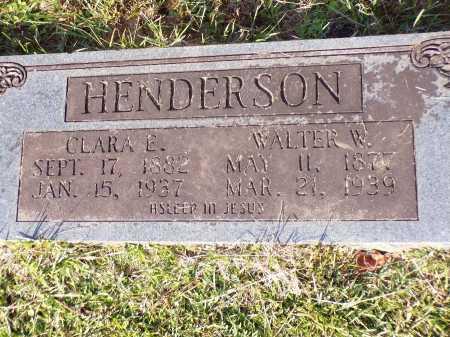 HENDERSON, WALTER W - Calhoun County, Arkansas | WALTER W HENDERSON - Arkansas Gravestone Photos