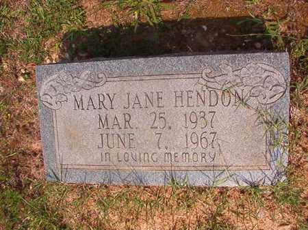 HENDON, MARY JANE - Calhoun County, Arkansas | MARY JANE HENDON - Arkansas Gravestone Photos