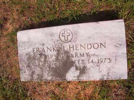 HENDON (VETERAN), FRANK J - Calhoun County, Arkansas | FRANK J HENDON (VETERAN) - Arkansas Gravestone Photos