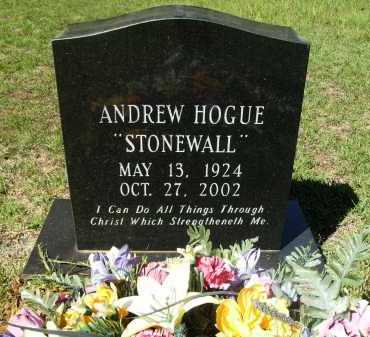 HOGUE, ANDREW - Calhoun County, Arkansas | ANDREW HOGUE - Arkansas Gravestone Photos