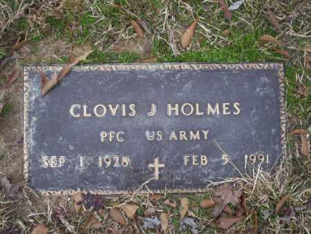 HOLMES  (VETERAN), CLOVIS J - Calhoun County, Arkansas | CLOVIS J HOLMES  (VETERAN) - Arkansas Gravestone Photos