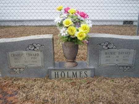 HOLMES, CHARLIE EDWARD - Calhoun County, Arkansas | CHARLIE EDWARD HOLMES - Arkansas Gravestone Photos