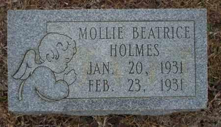 HOLMES, MOLLIE BEATRICE - Calhoun County, Arkansas | MOLLIE BEATRICE HOLMES - Arkansas Gravestone Photos