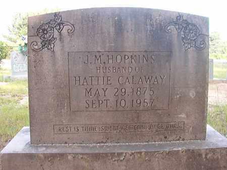 HOPKINS, J M - Calhoun County, Arkansas | J M HOPKINS - Arkansas Gravestone Photos