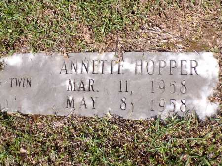HOPPER, ANNETTE - Calhoun County, Arkansas   ANNETTE HOPPER - Arkansas Gravestone Photos