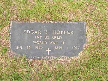 HOPPER (VETERAN WWII), EDGAR S - Calhoun County, Arkansas | EDGAR S HOPPER (VETERAN WWII) - Arkansas Gravestone Photos