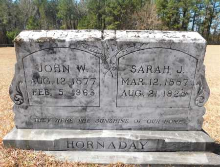 HORNADAY, SARAH J - Calhoun County, Arkansas | SARAH J HORNADAY - Arkansas Gravestone Photos