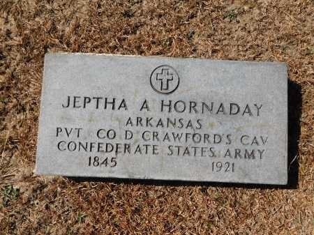 HORNADAY (VETERAN CSA), JEPTHA A - Calhoun County, Arkansas | JEPTHA A HORNADAY (VETERAN CSA) - Arkansas Gravestone Photos
