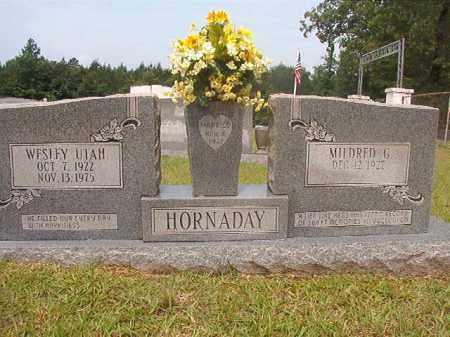 HORNADAY, WESLEY UTAH - Calhoun County, Arkansas | WESLEY UTAH HORNADAY - Arkansas Gravestone Photos