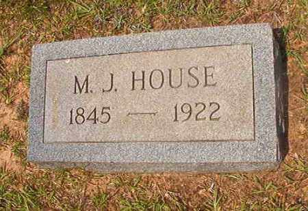 HOUSE, M J - Calhoun County, Arkansas | M J HOUSE - Arkansas Gravestone Photos