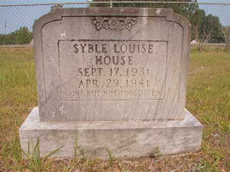 HOUSE, SYBLE LOUISE - Calhoun County, Arkansas | SYBLE LOUISE HOUSE - Arkansas Gravestone Photos
