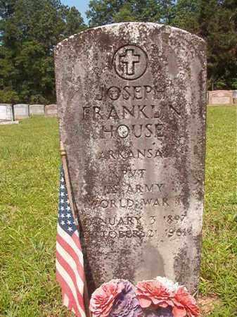 HOUSE (VETERAN WWI), JOSEPH FRANKLIN - Calhoun County, Arkansas | JOSEPH FRANKLIN HOUSE (VETERAN WWI) - Arkansas Gravestone Photos