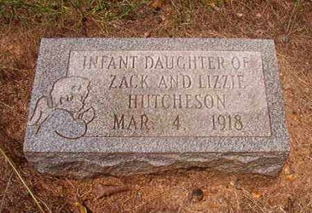 HUTCHESON, INFANT DAUGHTER - Calhoun County, Arkansas | INFANT DAUGHTER HUTCHESON - Arkansas Gravestone Photos