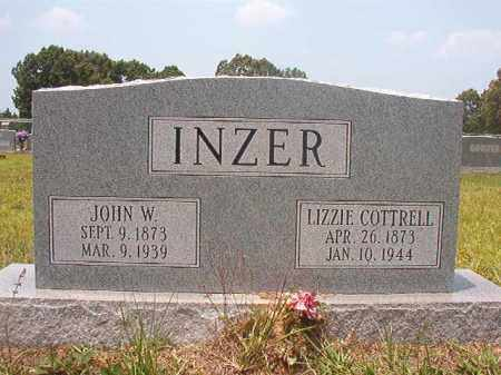 INZER, JOHN W - Calhoun County, Arkansas | JOHN W INZER - Arkansas Gravestone Photos