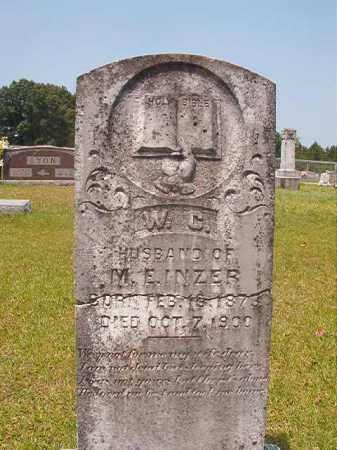 INZER, W C - Calhoun County, Arkansas | W C INZER - Arkansas Gravestone Photos
